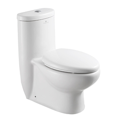 Fresca Delphinus One Piece Dual Flush Toilet with Soft Close Seat