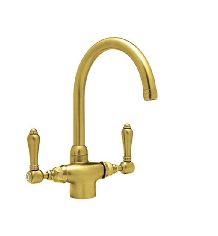 rohl a1676 single hole c spout country kitchen faucet