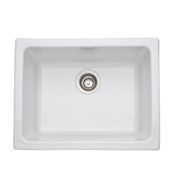 ... Undermount / Laundry Single Bowl Fireclay Kitchen Sink in White Finish