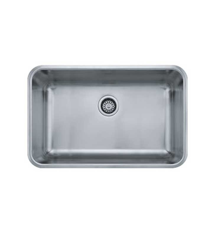 Franke Grande Sink : Franke GDX11028 Grande Single Basin Undermount Stainless Steel Kitchen ...