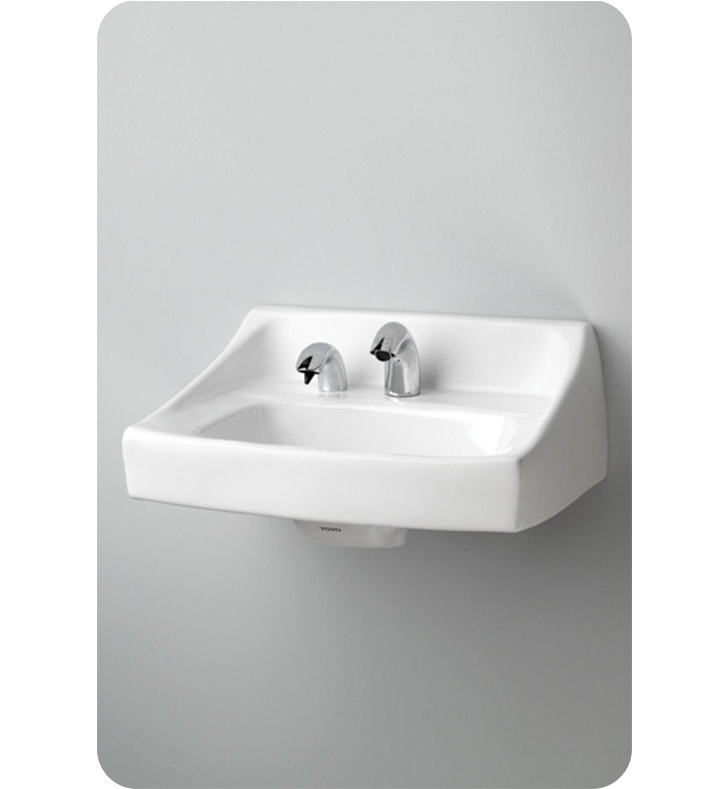 Ada Compliant Wall Hung Lavatory : TOTO LT307A Commercial Wall Hung Lavatory with Soap Dispenser ADA