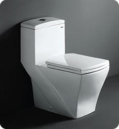 Fresca Salerno One Piece Dual Flush Square Toilet