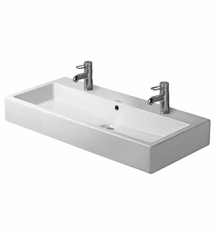 Duravit Vero Wall Mounted Sink : Duravit Vero 39 3/8 inch Wall Mounted Porcelain Bathroom Sink