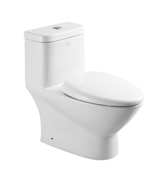 Fresca Serena One Piece Dual Flush Toilet with Soft Close Seat