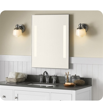 Ronbow 601224 Bn Contemporary 23 X 30 Metal Framed Bathroom Mirror W Leds In Brushed Nickel