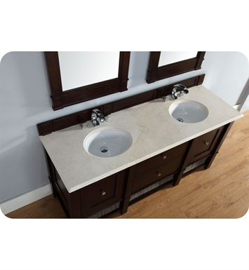 Bnm Madison  Double Bathroom Vanity In Burnished Mahogany Finish