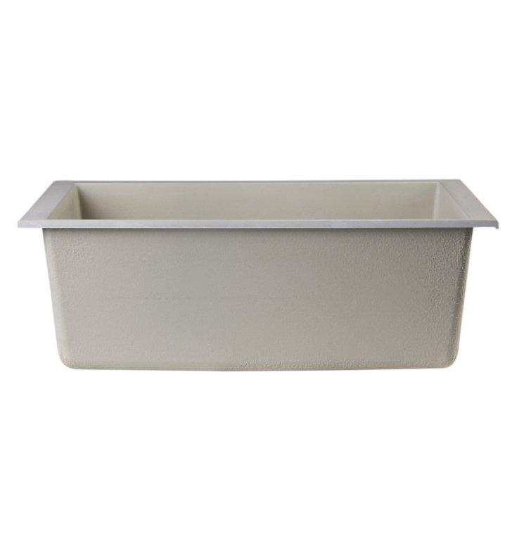 Granite Sink Brands : ALFI Brand AB2420UM-B Biscuit 24