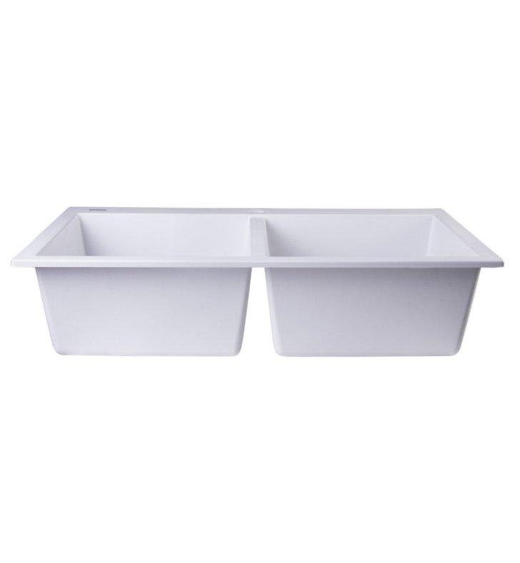 Granite Sink Brands : ALFI Brand AB3420DI-W White 34