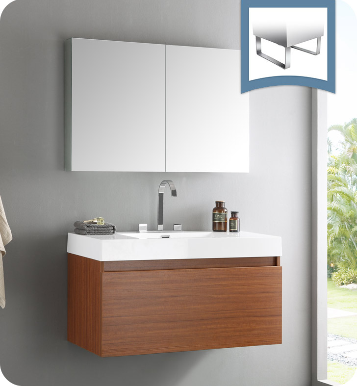 Fresca Fvn8010tk Mezzo Modern Bathroom Vanity With