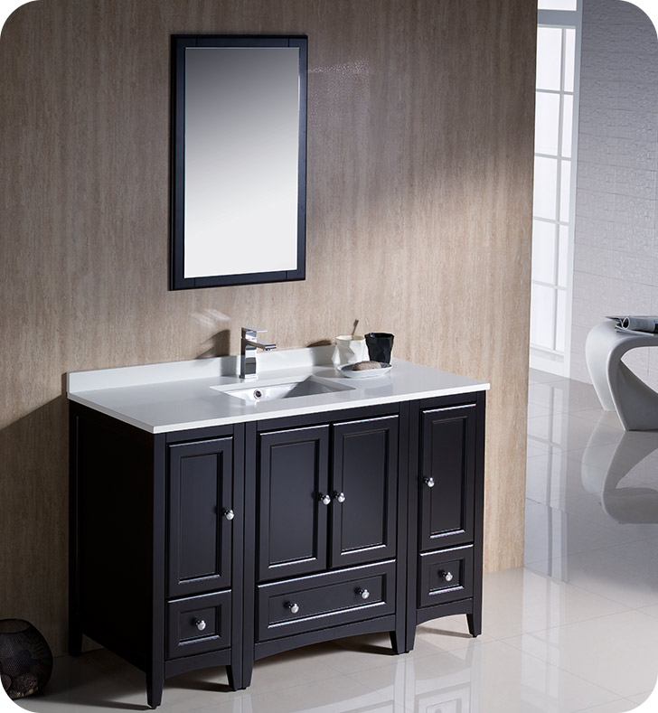 Fresca Fvn20 122412es Oxford 48 Traditional Bathroom Vanity With 2 Side Cabinets In Espresso