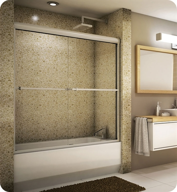 "Fleurco E260  Verona 56"" Semi Frameless In Line Sliding Tub Doors"