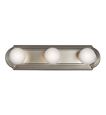 Kichler 5003NI 3-Bulb Bathroom Strip Light in Brushed Nickel