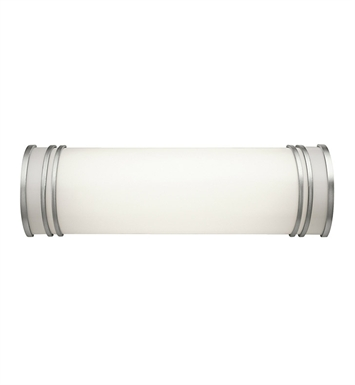 Kichler 10329WH Linear Bath 18 Inch Fluorescent in White
