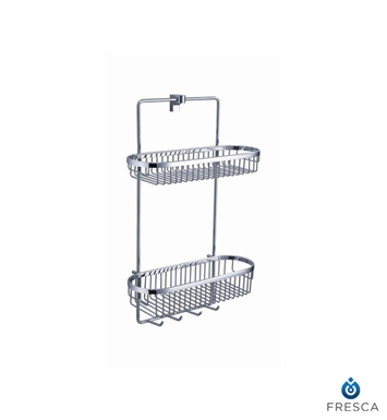 Fresca FAC2354 Generoso 2 Tier Wire Basket in Chrome