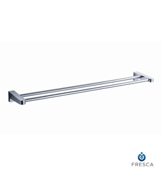 "Fresca Generoso 20"" Double Towel Bar in Chrome"