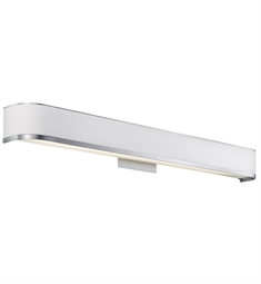 Kichler Pira Collection Bath Vanity 36 Inch 1 Light Fluorescent in Brushed Aluminum