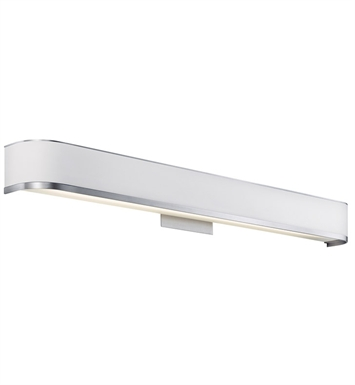 Kichler 10424BA Pira Collection Bath Vanity 36 Inch 1 Light Fluorescent in Brushed Aluminum