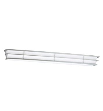 Kichler 10602SI Pavilion Collection Linear Bath 40 Inch Fluorescent in Silver Various