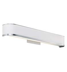 Kichler Pira Collection Bath Vanity 1 Light Fluorescent in Brushed Aluminum