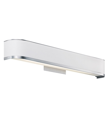 Kichler 10423BA Pira Collection Bath Vanity 1 Light Fluorescent in Brushed Aluminum