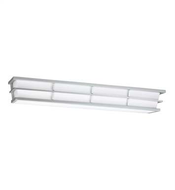Kichler 10601SI Pavilion Collection Linear Bath 28 Inch Fluorescent in Silver Various