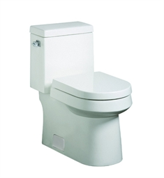 Danze Ziga Zaga DC031321WH One-Piece High Efficiency Toilet in White Finish