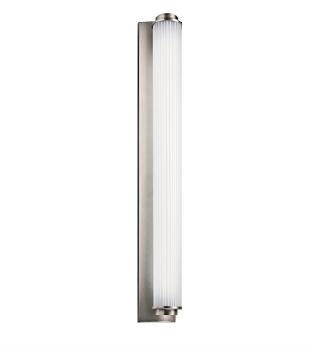 Kichler Allegre Collection Linear Bath 38 Inch Fluorescent in Satin Nickel