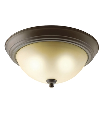 Kichler 8109OZ Flush Mount 2 Light in Olde Bronze