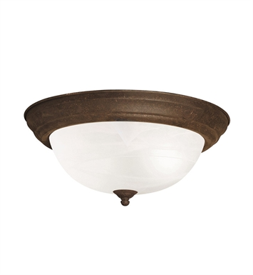 Kichler 8109TZ Flush Mount 2 Light in Tannery Bronze