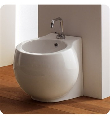 Nameeks 8106-A Scarabeo Planet Floor Mounted Bidet in White