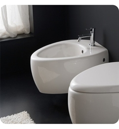 Nameeks 8605 Scarabeo Moai Wall Mounted Bidet in White