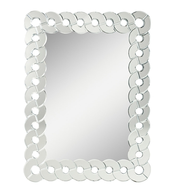 "Kichler 78138 Orbitz 40"" Rectangular Wall Mirror with Beveled Mirror Circle Frame"