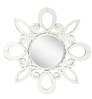 "Kichler 78146 Transitional 40"" Round Wall Mirror with Beveled Mirror Frame from the January Collection"
