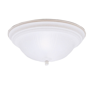 Kichler 8654SC Flush Mount 2 Light in Stucco White