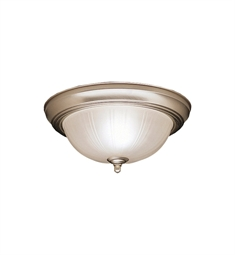 Kichler Flush Mount 2 Light in Brushed Nickel