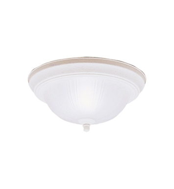 Kichler 8653SC Flush Mount 2 Light in Stucco White