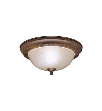 Kichler 8653TZ Flush Mount 2 Light in Tannery Bronze