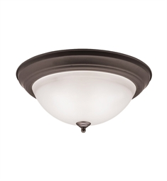 Kichler Flush Mount 2 Light in Olde Bronze