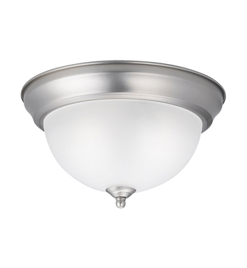Kichler 8111NI Flush Mt 2 Light in Brushed Nickel