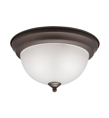 Kichler 8111OZ Flush Mt 2 Light in Olde Bronze