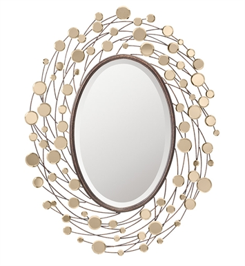 "Kichler 78178 Arcade 39.5"" High Oval Mirror"