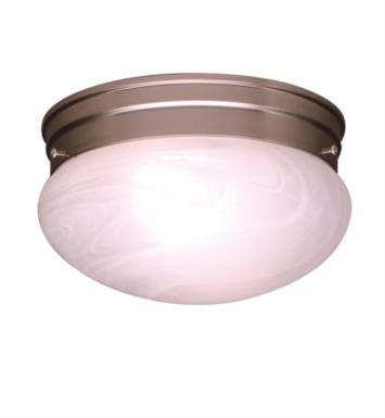 Kichler 8206NI Ceiling Space 1 Light Incandescent Flush Mount Ceiling Light with Dome Shaped Glass Shade