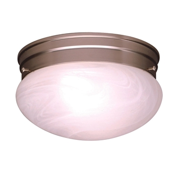 Kichler 8206NI Ceiling Space Collection 1-Bulb Flush Mount Light in Brushed Nickel - Sold as a package of 12