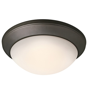 Kichler 8881OZ Ceiling Space Collection Flush Mount 1 Light in Olde Bronze