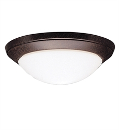 Kichler Ceiling Space Collection Flush Mount 1 Light in Tannery Bronze