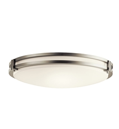 Kichler Flush Mount 3 Light Fluorescent in Brushed Nickel
