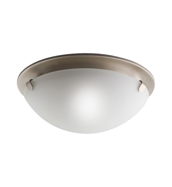Kichler 7003NI Flush Mount 2 Light in Brushed Nickel