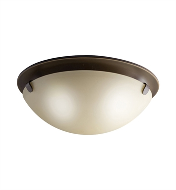 Kichler 7003OZ Flush Mount 2 Light in Olde Bronze