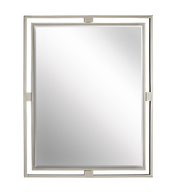 Kichler 41071NI Modern Rectangular Mirror from the Hendrik Collection With Finish: Brushed Nickel