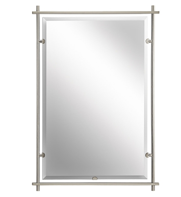 Kichler 41096NI Modern Large Rectangular Mirror from the Eileen Collection With Finish: Brushed Nickel